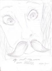 A sketch of my cousin, Muna