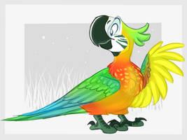 Catalina Macaw by N3rdy-B1rdy