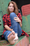 Kathy's great feet and long toes 57B