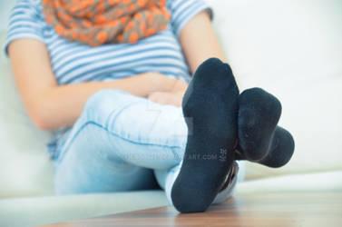 Vicky in black socks close-up 29 HD