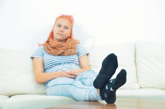 Vicky in black socks 24 HD