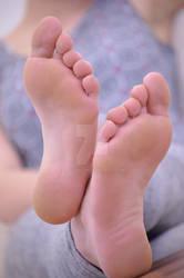 Jacky's lickable soles close up 79 HD