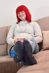Kathleen's black sneaker socks 47 HD