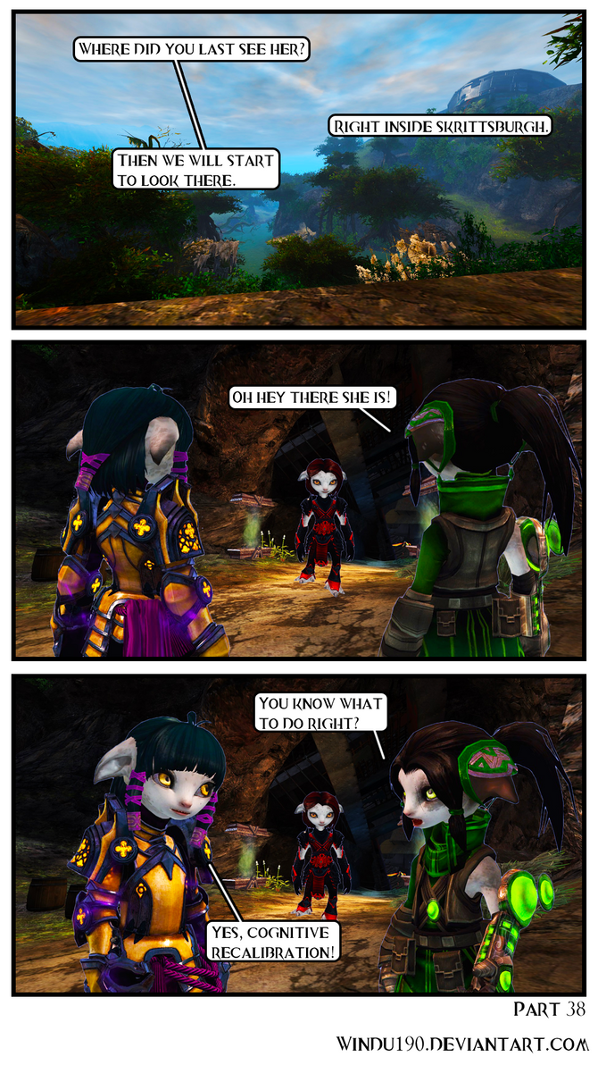 A Skritty Situation 38 (Guild Wars 2 comic) by windu190