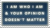 I am Who I am Stamp by matsw007