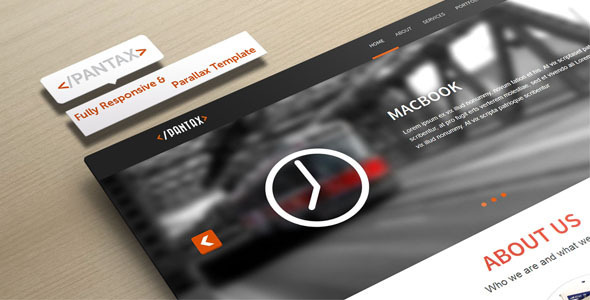 Pantax - Fully Responsive and Parallax Template by r0naldosla