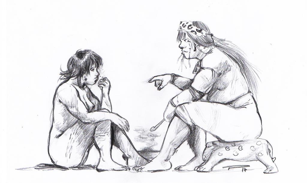 Mbaraka and her shaman by vmgoncalves