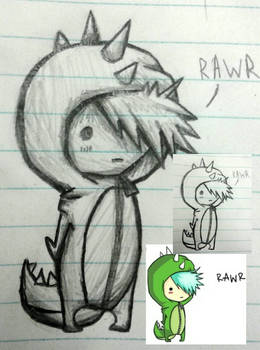 Chibi Dino Doodle