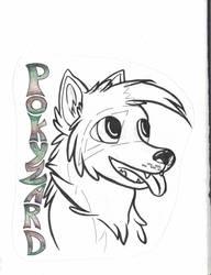 Pokyzard Badge(Uncoloured-scan)