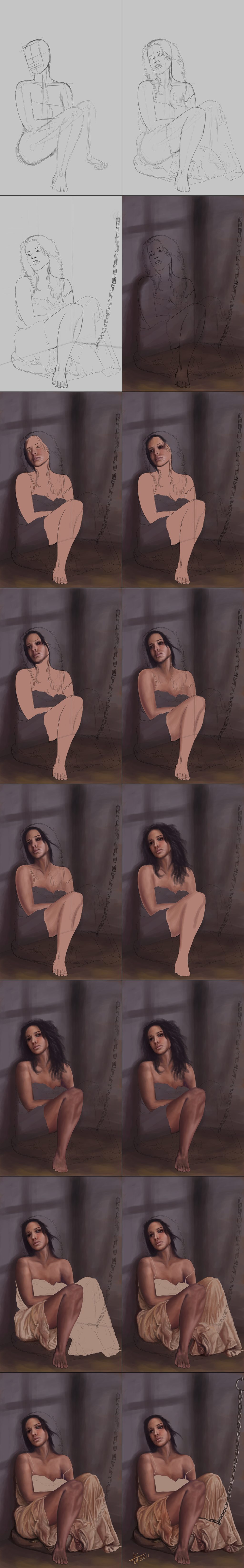 Prisionera Encadenada Steps I by LordScythe