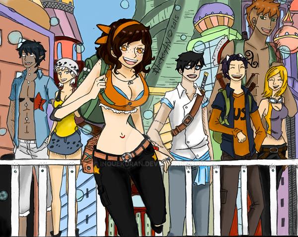 Chaos Pirates on Sabaody by Inouekuran