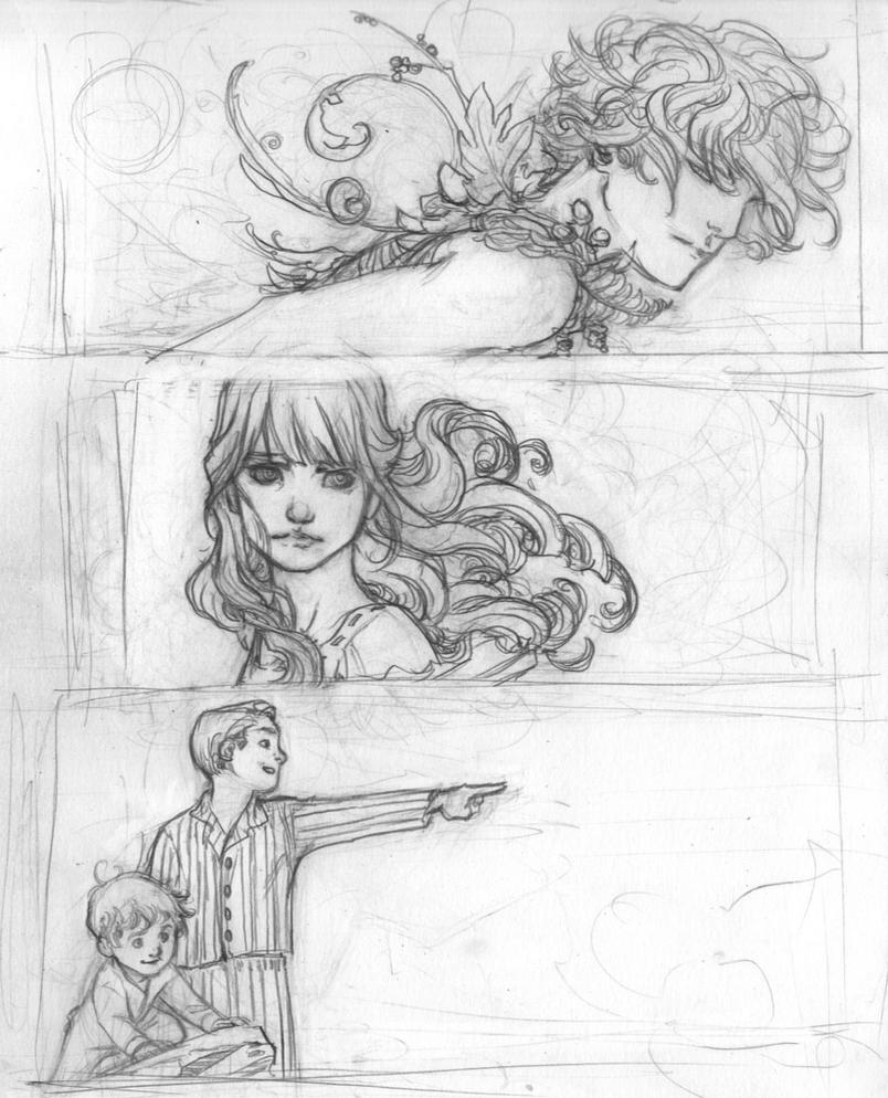 Character Design Graphic Novels : Peter pan graphic novel character drawings by