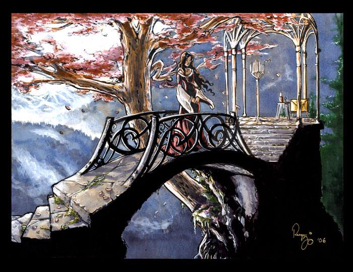Arwen on a Bridge by RenaeDeLiz