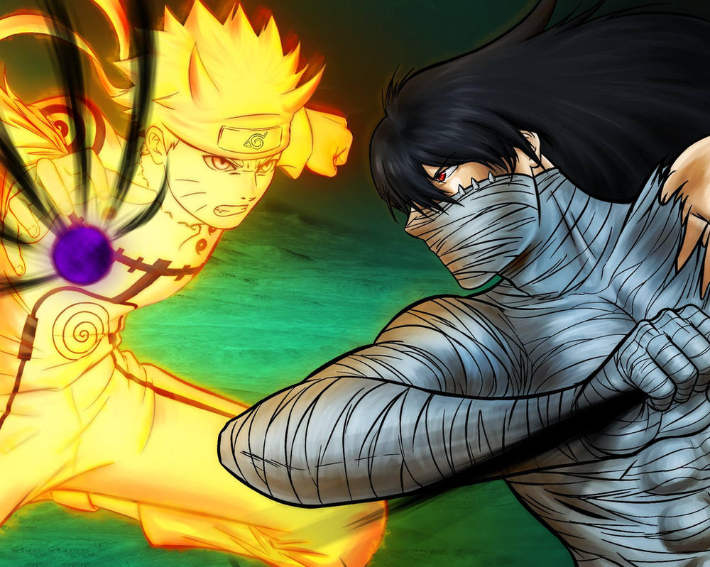 Naruto Vs Ichigo Colored by Shight
