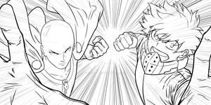 FANART - Saitama and Deku