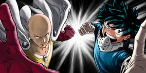FANART COMPLETE COLOR - Saitama and Deku VS ...?