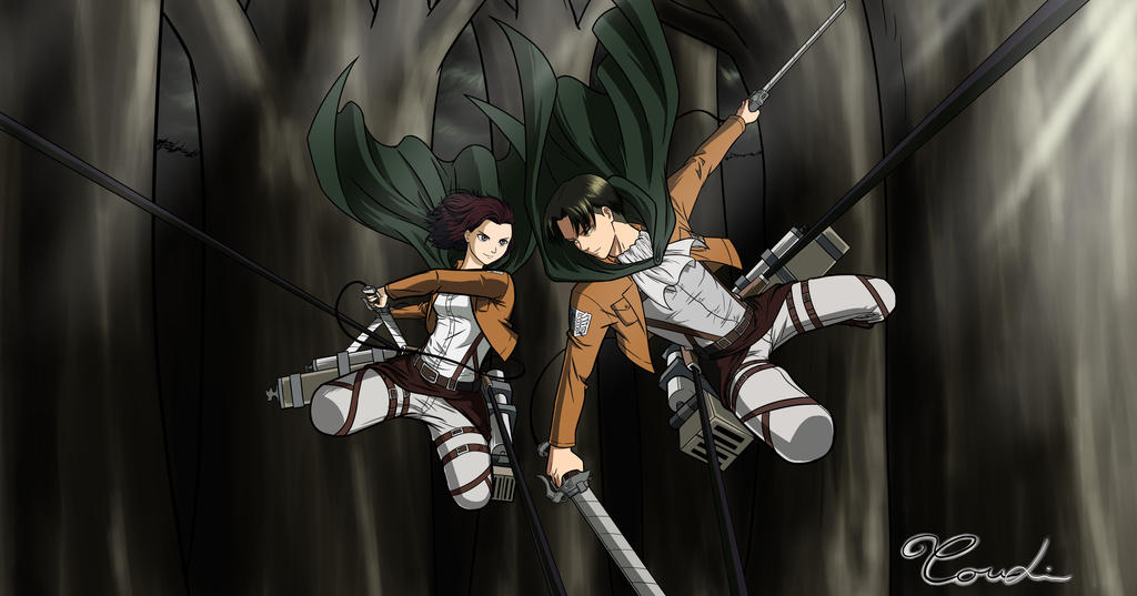 COMMISSION - ATTACK ON TITAN by Shight