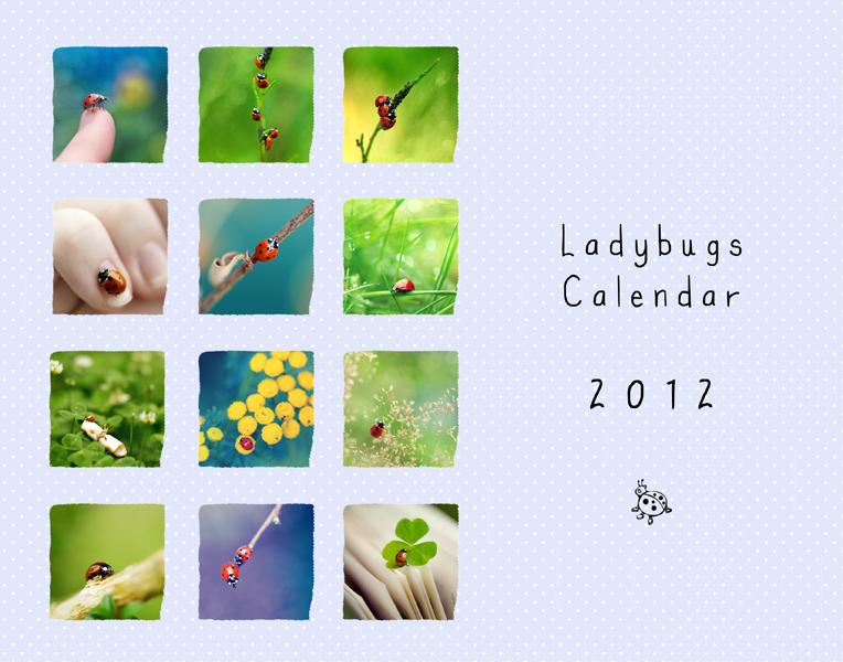 Ladybugs' Calendar 2012 by andokadesbois