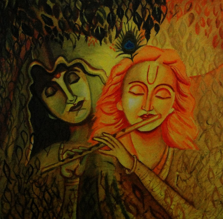 Abstract Radha And Krishna By Capricorn-kid On DeviantArt