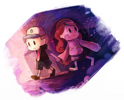 Dipper and Mabel by espimyte