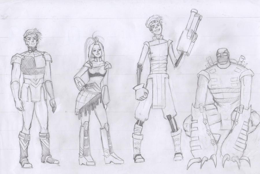 Character Design Lineup : Character design lineup by kakete on deviantart