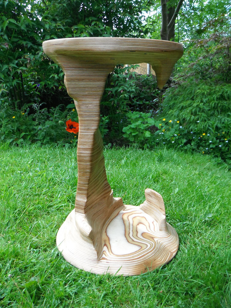 Sculpted Birch plywood table by TMFineFurniture on DeviantArt