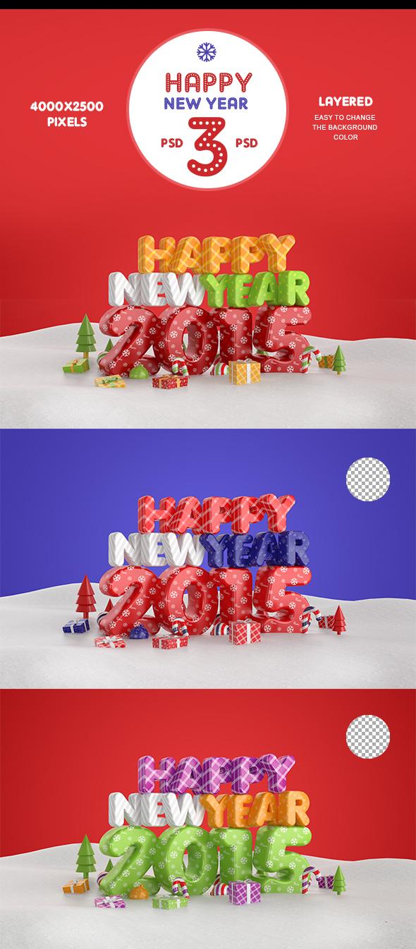 Happy New Year 2015 by Bashkirev