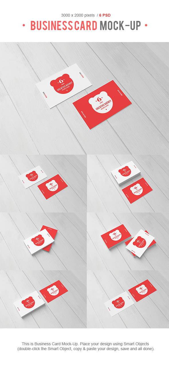 Business Card Mock-up by Bashkirev