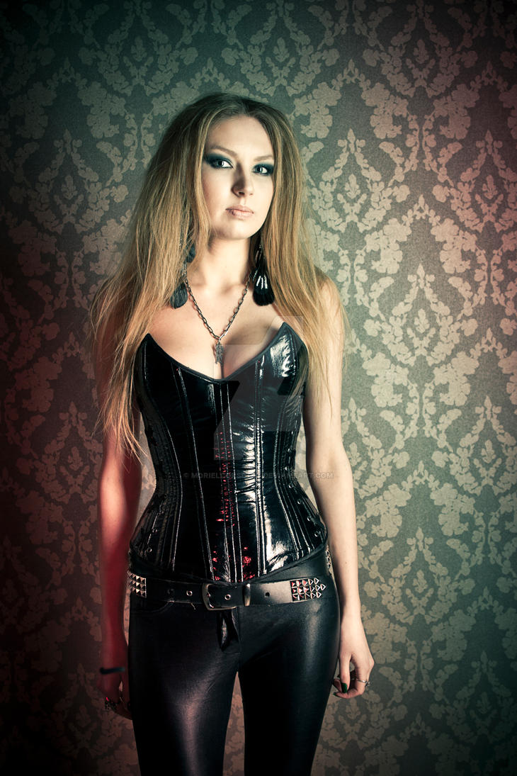 PVC overbust corset by MorielCorsetry
