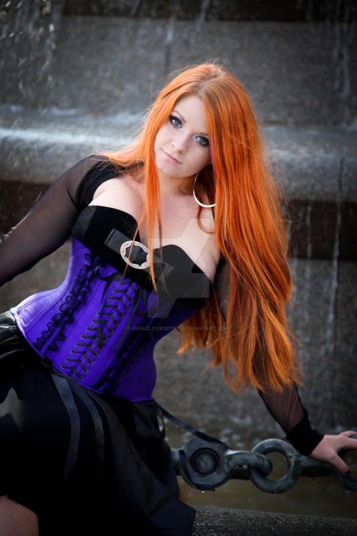 silk underbust corset by MorielCorsetry