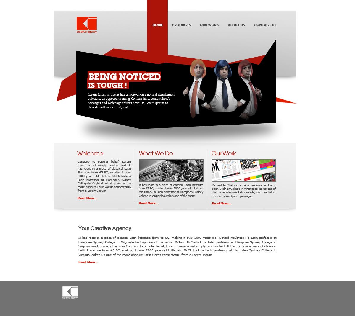 Advertising Agency Website by yigitarslan on DeviantArt