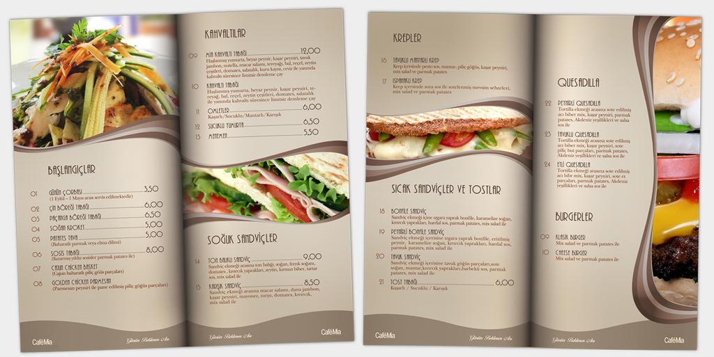 Cafe Mia Menu Design