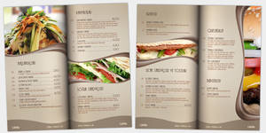 Cafe Mia Menu Design by yigitarslan
