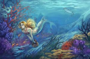 mermaid by sans-art