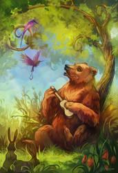 Bear and ukulele