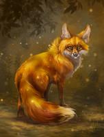 Fox and fireflies =)
