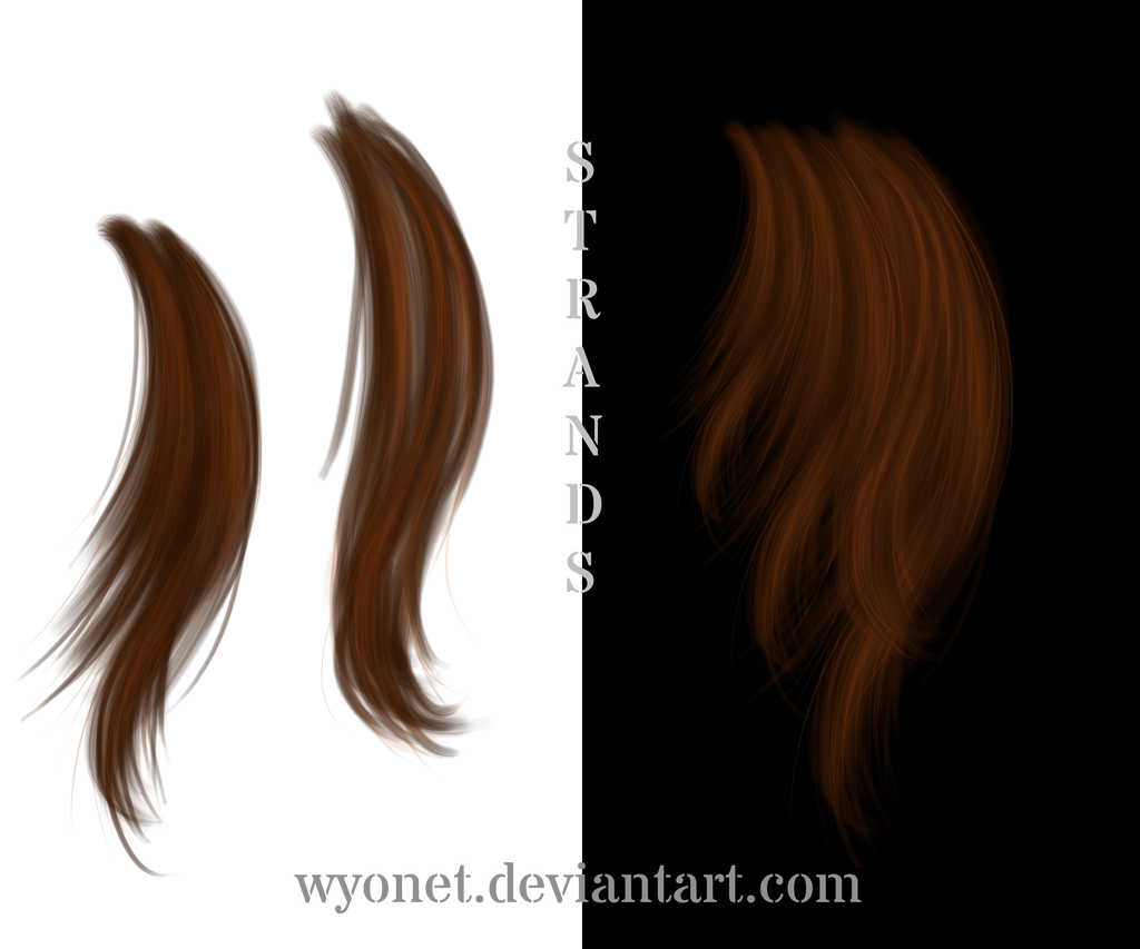 Hair Strands By Wyonet On Deviantart