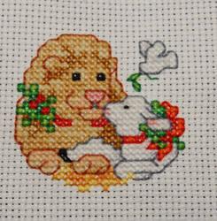 Lion and Lamb :Chirstmas Ornament: