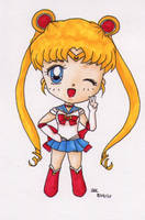 Chibi Sailor Moon by sodapopfizz