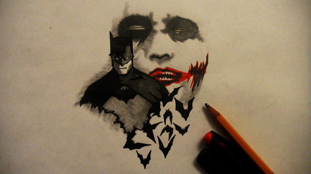 Batman and Joker by aaidyn on DeviantArt