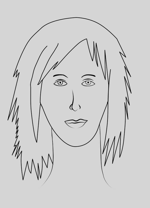 Woman lineart by Geozz