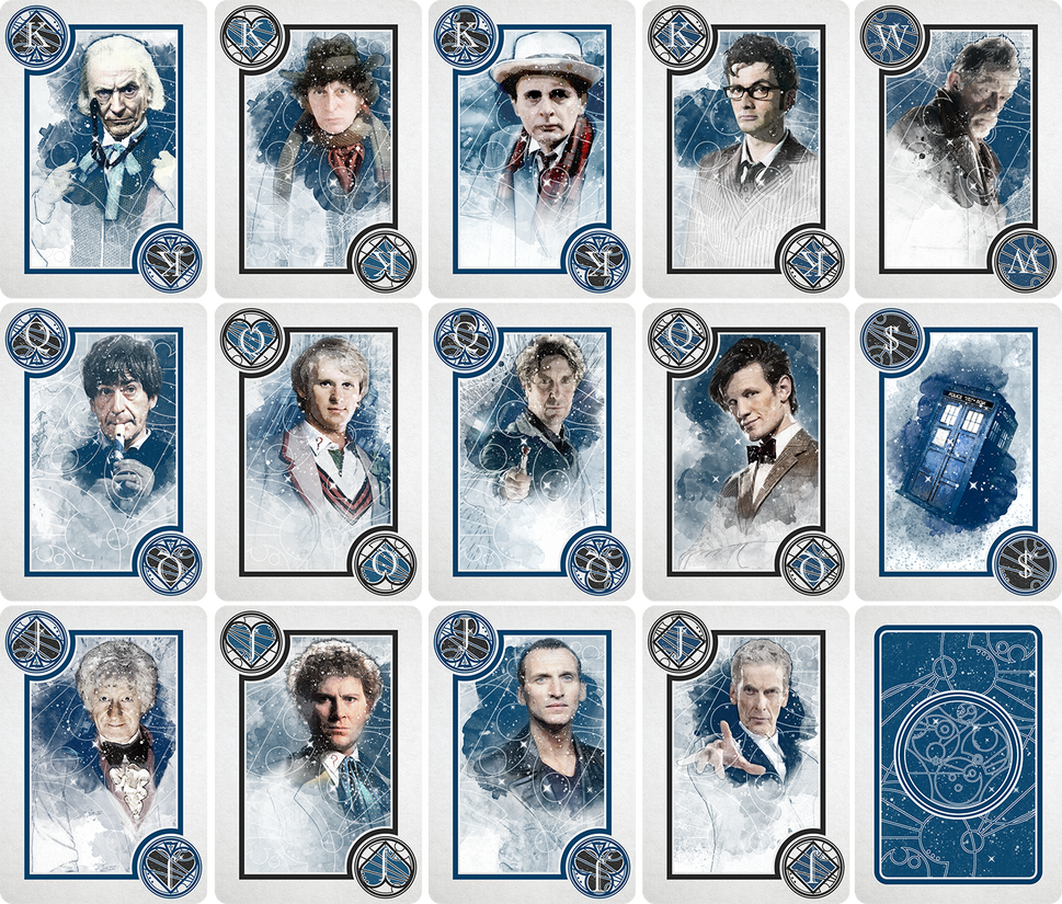 THE DOCTOR WHO DECK FACE CARDS by TMC-INK