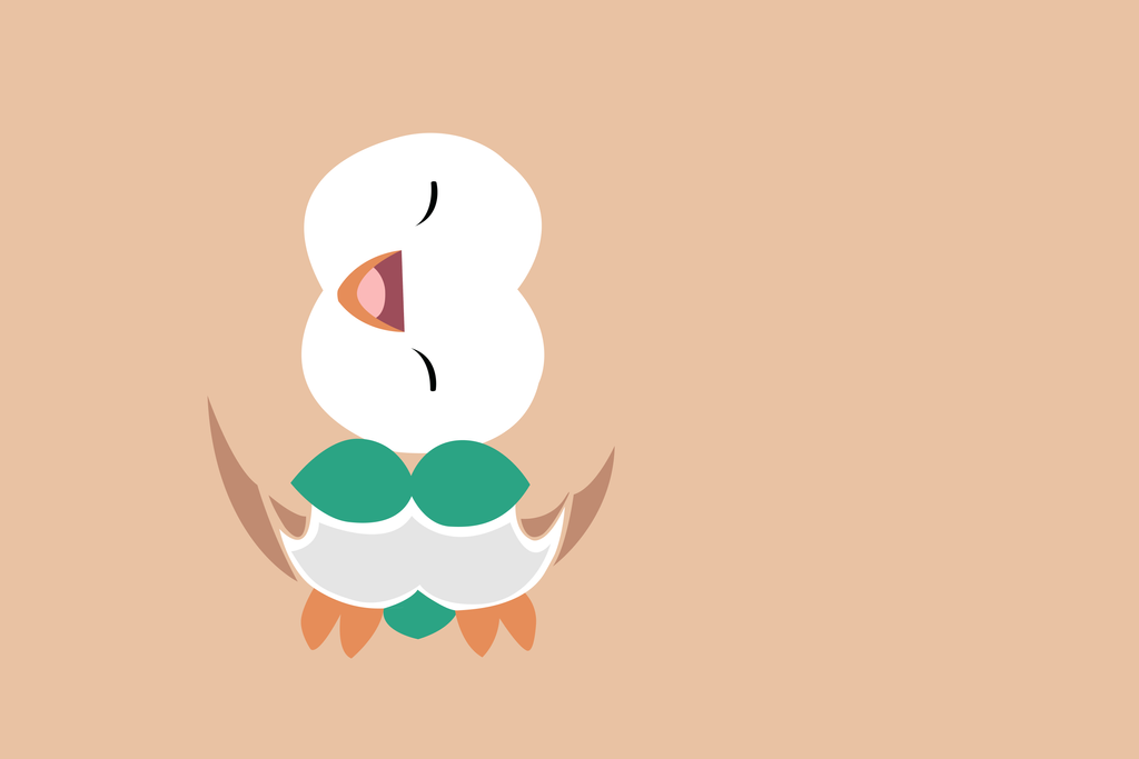 Rowlet minimal by darkight289 on deviantart for Minimal art 2016