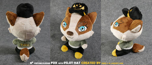 Fox with Pilot Hat
