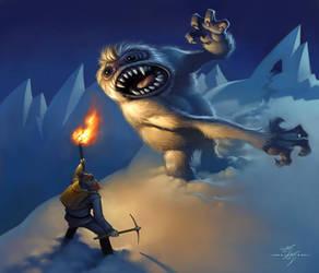 Yukon Cornelius vs. Bumble by Kanyn