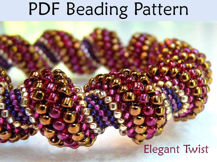 twist pdf beading pattern by simplebeadpatterns on