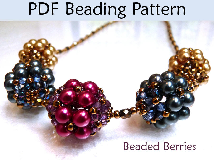 beaded berries pdf beading pattern by simplebeadpatterns