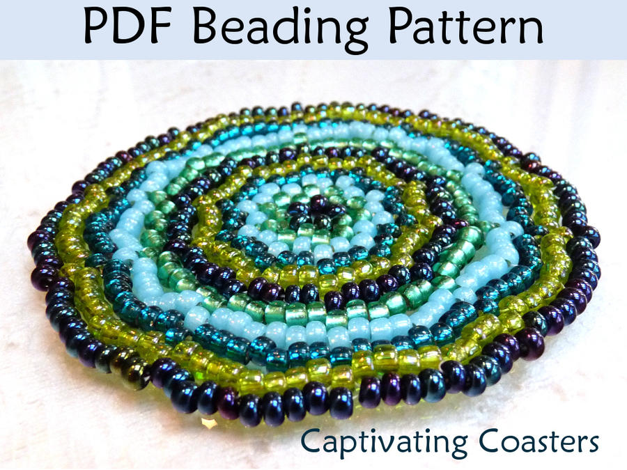 captivating beaded coasters pdf beading pattern by