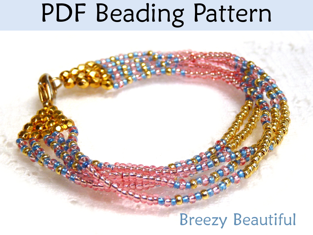breezy beautiful bracelet pdf beading pattern by