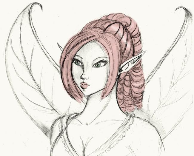 Beautiful Fairy Sketch Fairy sketch by rinigrl
